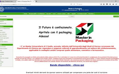 MASTER IN PACKAING A PARMA