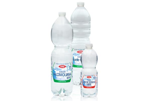 Bottiglie acqua minerale in rPET | COOP